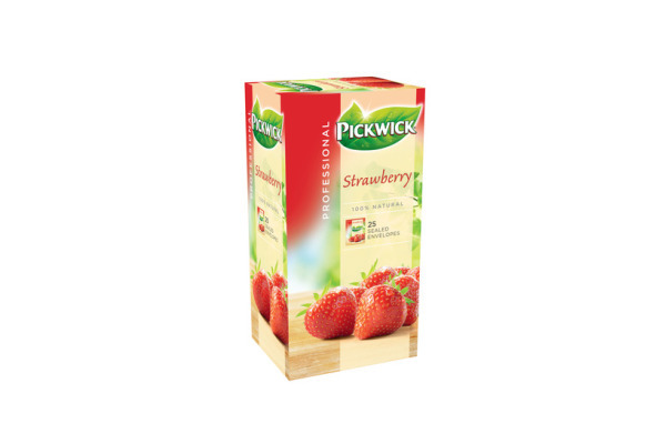 PW TEA PROF AARDBEI 3 x 25 x 2 gram