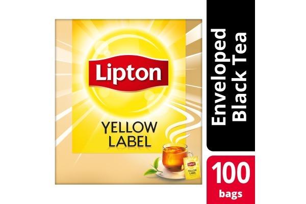 LIPTON YELLOW LABEL FAIRTRADE met enveloppe 100x2gram