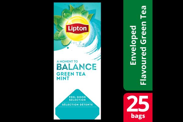 LIPTON FGS Green Tea Mint 6 x 25 zk.