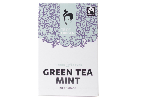 TE DE ORIGEN Green Tea Mint 6x20x2gr.fairtrade+ bio