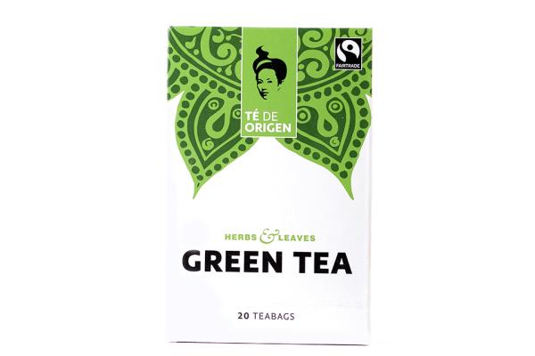 TE DE ORIGEN Green Tea 6x20x2gr. fairtrade+ bio