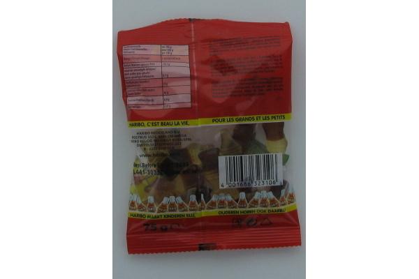 HARIBO COLA FLESJES  30 zak a 75 gram