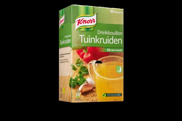 KNORR DRINKBOUILLON TUINKRUIDEN 80 zakjes per verpakking