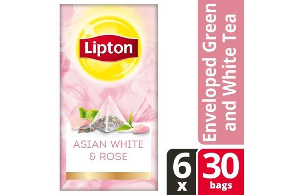 (uitlopend artikel)LIPTON TEA EXCLUSIVE SELECTION Aziatisch Wit en Rozenblaadjes 6x30 env