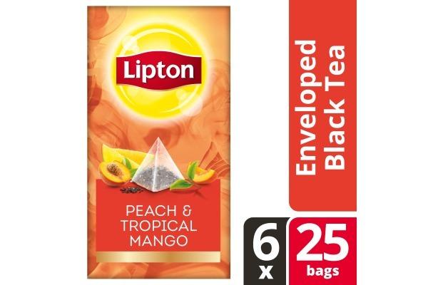 LIPTON TEA EXCLUSIVE SELECTION Perzik Mango 6x25 envel.