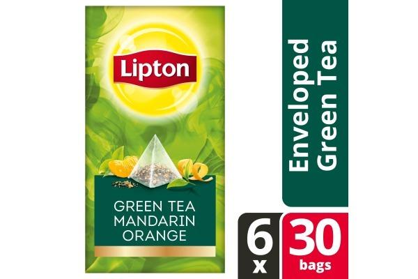 LIPTON TEA EXCLUSIVE SELECTION Groene thee mand-sinas 6x25 envel