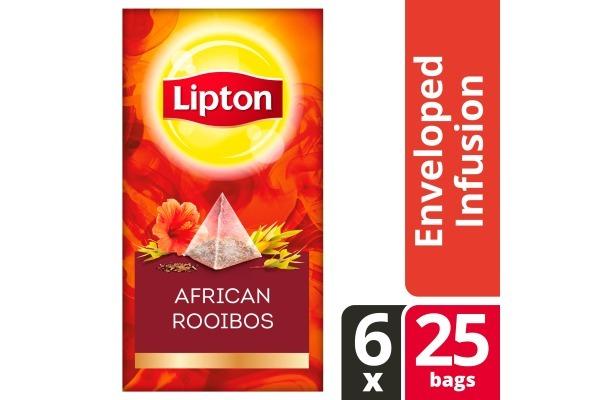 LIPTON TEA EXCLUSIVE SELECTION Afrikaanse Rooibos 6x25 envel