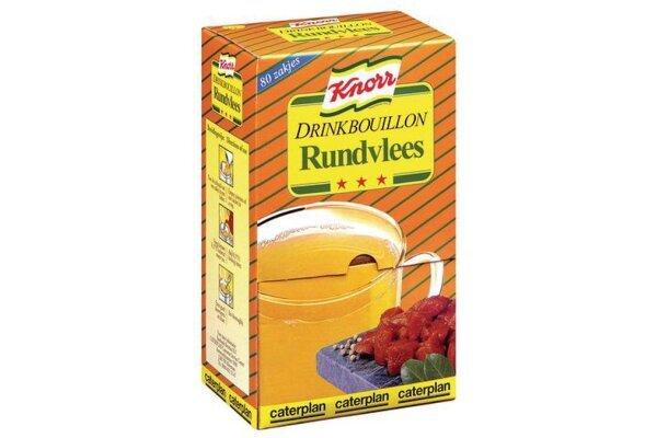 KNORR DRINKBOUILLON RUNDVLEES 80 zakjes per verpakking
