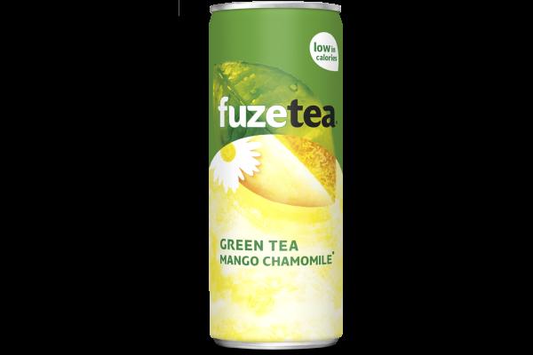 FUZE TEA GREEN TEA MANGO CHAMOMILE     blik 24 x 0.25 cl