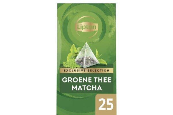 LIPTON TEA EXCLUSIVE SELECTION Groene thee Matcha 6 x 25 envel.
