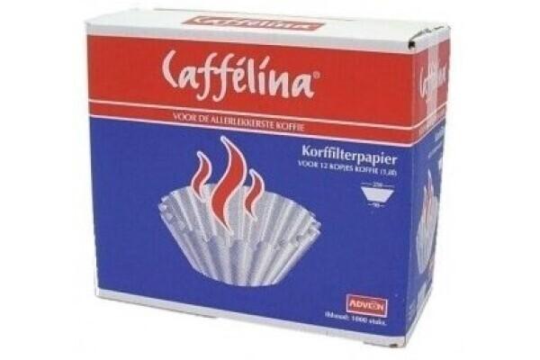 Koffiefilters Caffelina 250/90 1000 st gebleekt